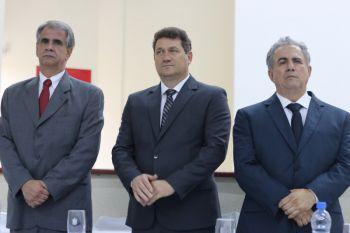 Hélio Gama, vice-prefeito Adalto Gomes e prefeito Eloi Mariano Rocha