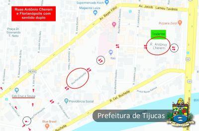 Ruas Florianópolis e Antônio Cherem